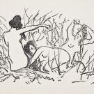 Édouard Manet, illustration pour L'Après-midi d'un faune de Mallarmé, 1876