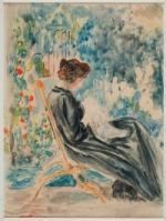Julie Manet, Geneviève au jardin, aquarelle sur papier, 1899