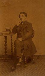 Constantin, Portrait de Mallarmé, photographie, 1861