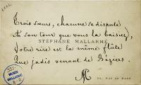 Stéphane Mallarmé, Quatrain autographe « Trois sœurs, chacune se dispute… » (Nouvel An 1893)