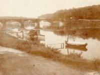 Abel Houdry, La yole et le pont de Valvins, photographie