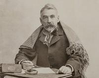 Paul Nadar, Stéphane Mallarmé au châle, photographie, 1895