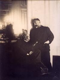 Edgar Degas, Mallarmé et Renoir, photographie