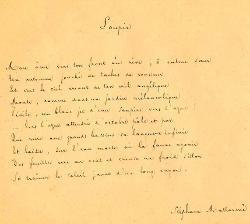Stéphane Mallarmé, Soupir, manuscrit, vers 1890